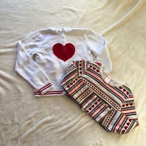 Gymboree Heart Sweater Hoodie and Top Bundle